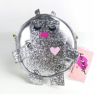 Betsey Johnson Crossbody Purse Robot Glitter